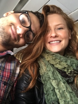 Robert and I on the plane.