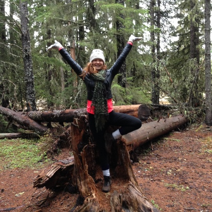 Tree pose in the forest